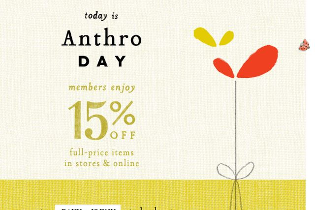Anthropologie Promo Codes & Cyber Monday Deals for November, Save with 10 active Anthropologie promo codes, coupons, and free shipping deals. 🔥 Today's Top Deal: (@Amazon) Free Shipping on Select Anthropologie Products. On average, shoppers save $36 using Anthropologie coupons from sell-lxhgfc.ml