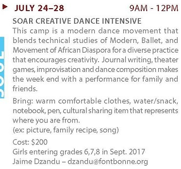 fontbonne dance summer program