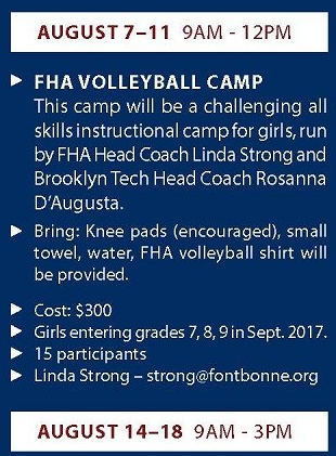 fontbonne volleyball camp bay ridge brooklyn