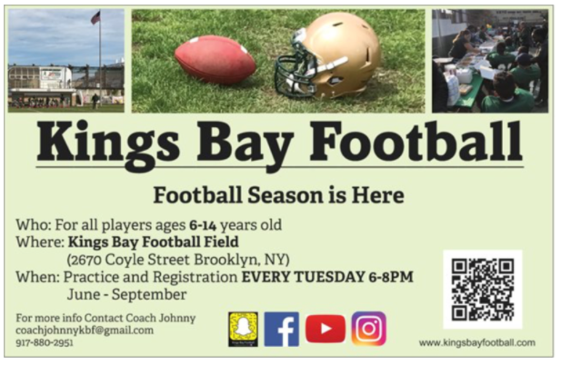 kings bay football sign up bay ridge brooklyn