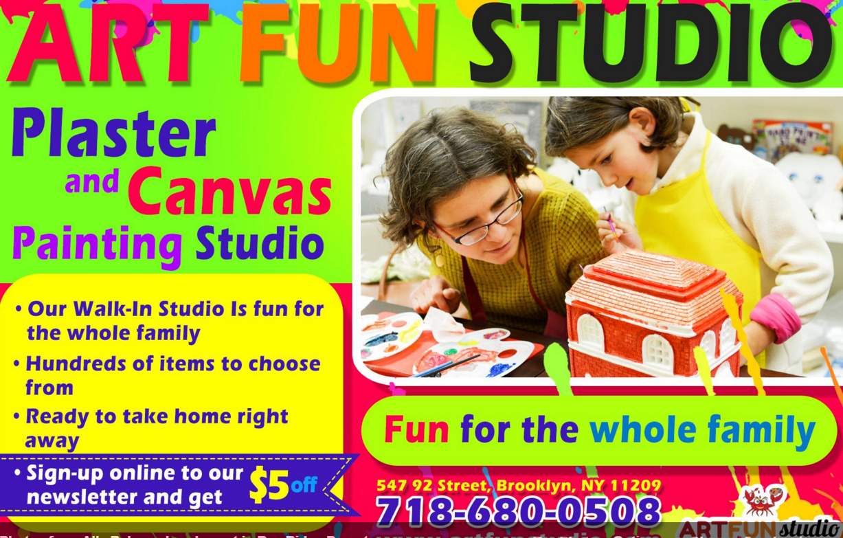 art fun studio paint plaster parties kids bay ridge