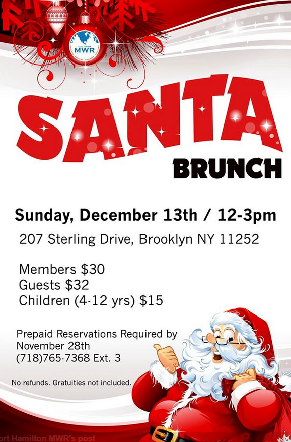 santa brunch at the fort hamilton army base bay ridge 2015