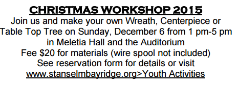 st anselm make a wreath or tree workshop 2015