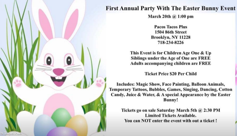 Easter Bunny March 20th Bay Ridge