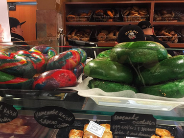 bagel boy green and rainbow bagels bay ridge