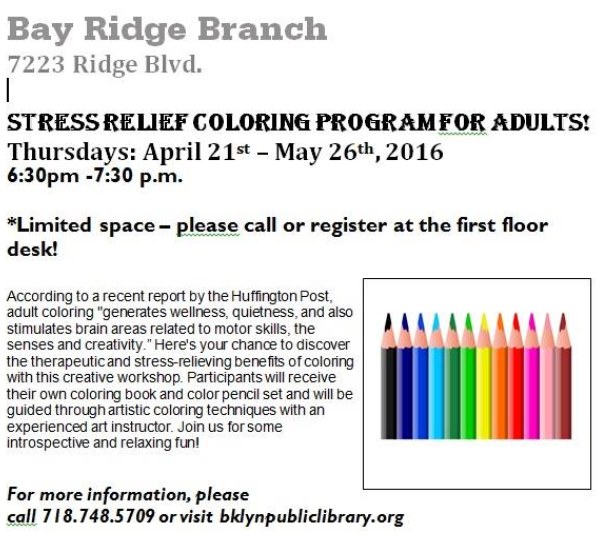 bay ridge coloring for adults