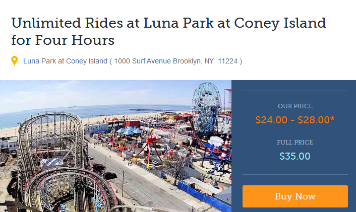 Luna Park Coney Island Discount Tickets