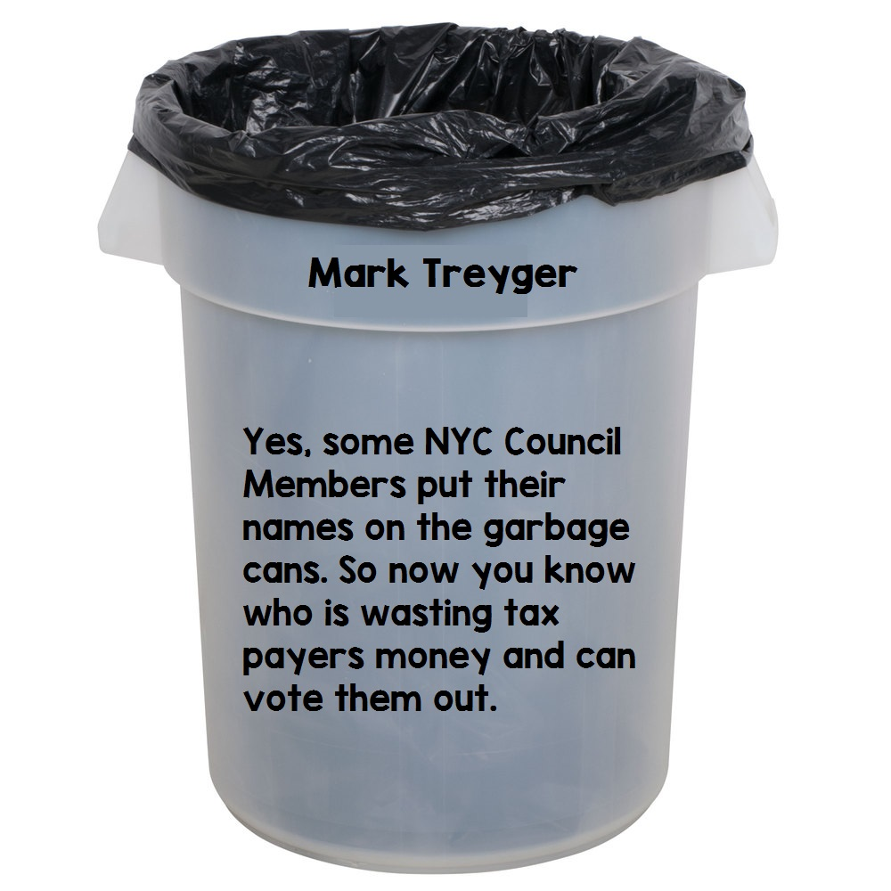 mark treyger garbage can
