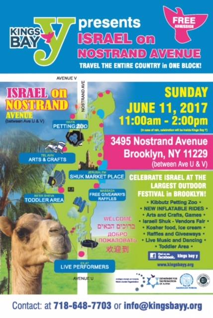 Celebrate Israel On Nostrand Avenue In Brooklyn June 11th
