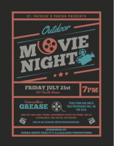 july movie night st pats july 21