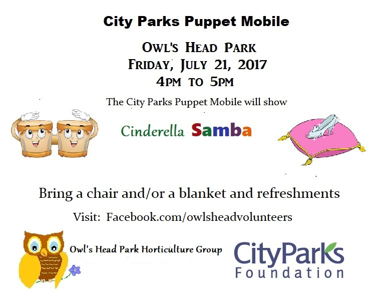owls head park puppets july 2017
