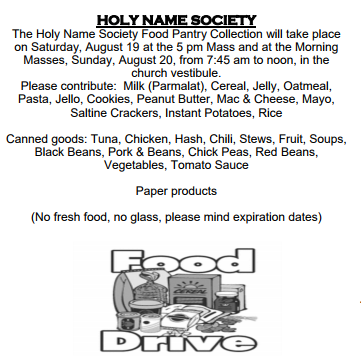 Holy Name St. Anselm Food Pantry Bay Ridge Brooklyn