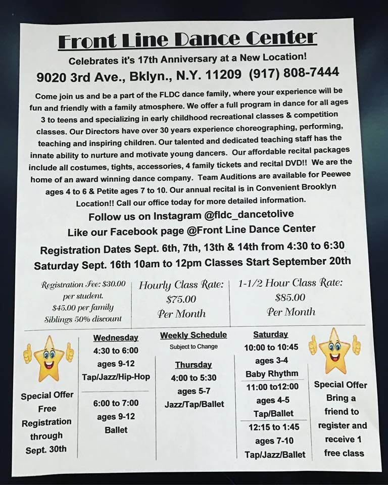 new dance classes in bay ridge brooklyn 11209