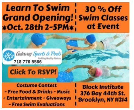 Free swimming lessons in brooklyn