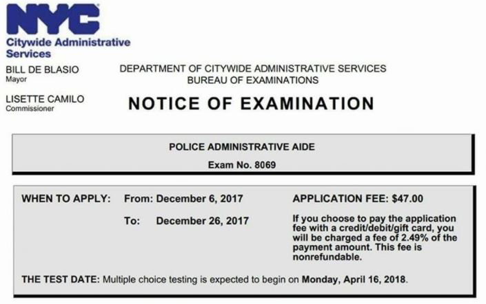 apply to be an nypd administrative aide open good salary rh queenoftheclick com Police Secretary Police Dispatcher Jobs