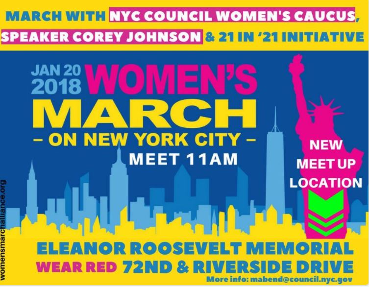 womens march meet up in nyc