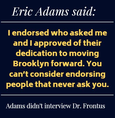Eric Adams is not a leader