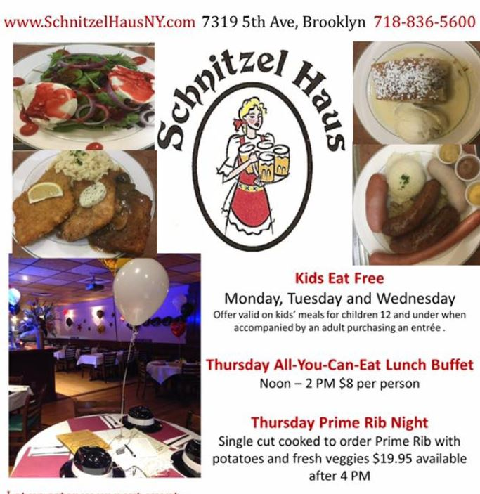 When All Kids Eat For Free >> Kids Eat Free At The Schnitzel Haus Bay Ridge