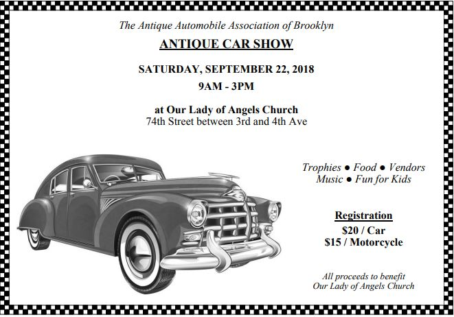 Our lady of angels antique car show september 2018