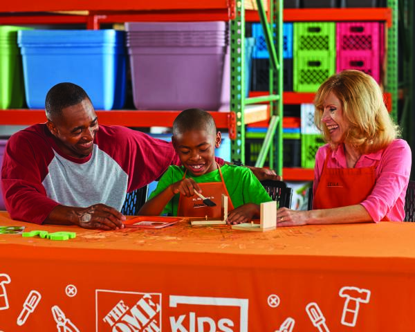 home depot family workshop free august 4th