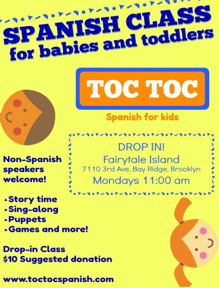 Spanish Classes for Babies and Toddlers in Bay Ridge