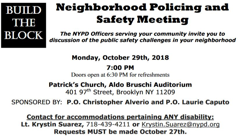 build the block bay ridge meeting