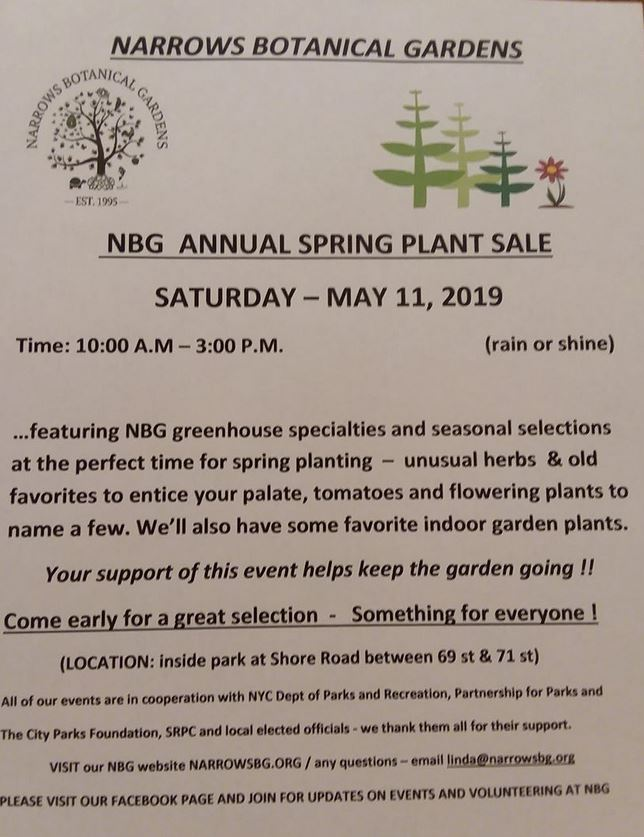 nbg spring plant sale may 11 2019 bay ridge